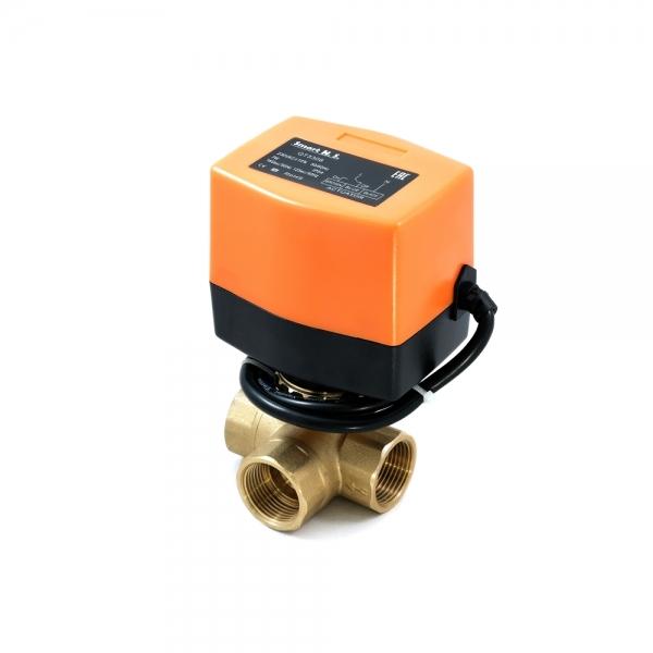 Треххходовой шаровый кран с электроприводом (сервоприводом) SMART QT3308 (AC220V, DC24V,DC12V)