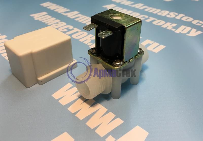 Клапан электромагнитный пластиковый нормально-закрытый ARM VT8174 (DC12V, DC24V, AC220V)