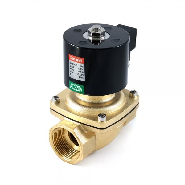 Клапан электромагнитный латунный нормально-закрытый SMART SM5563 (AC220V, AC110V, AC24V, DC12V, DC24V)