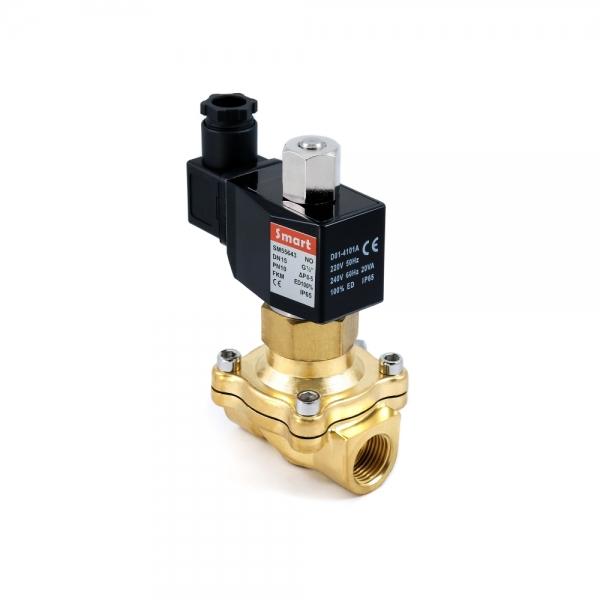 Клапан электромагнитный латунный нормально-открытый SMART SM5564 (AC220V, AC110V, AC24V, DC12V, DC24V)