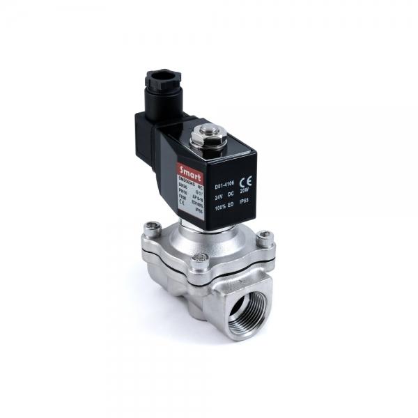 Клапан электромагнитный стальной нормально-закрытый SMART SM5563S (AC220V, AC110V, AC24V, DC12V, DC24V)