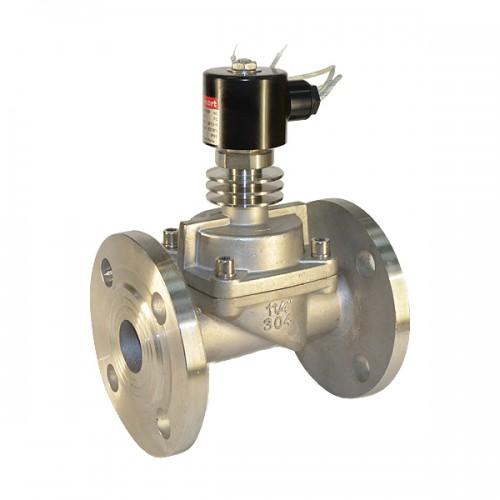 Клапан электромагнитный поршневой стальной фланец Н.З. SMART HX5571F (AC220V, DC24V)