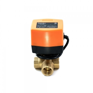 Треххходовой шаровый кран с электроприводом (сервоприводом) SMART QT3308 (AC220V, DC24V,DC12V)_1