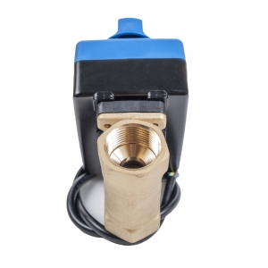 Двухходовой шаровый кран с электроприводом и ручным дублером ArmaControl MS-211-15-25 (AC220V)_2