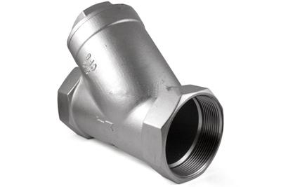 Клапан обратный нержавеющий пружинный муфтовый Ру 40 AISI 316