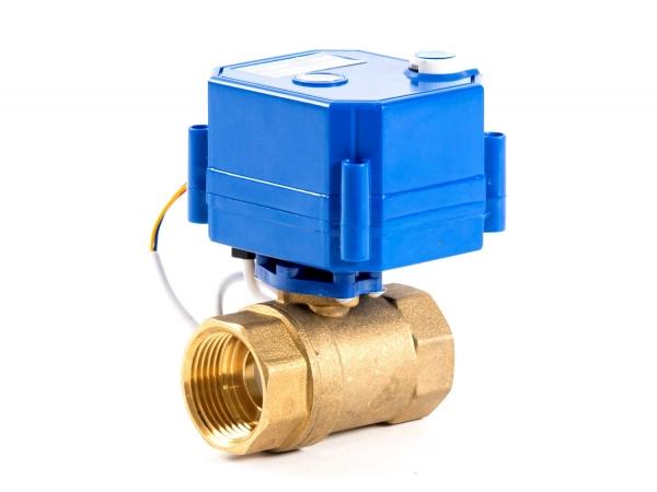 Кран шаровый с самовозвратным электроприводом нормально-закрытый ARM CR04 (AC220V), с ручным дублером