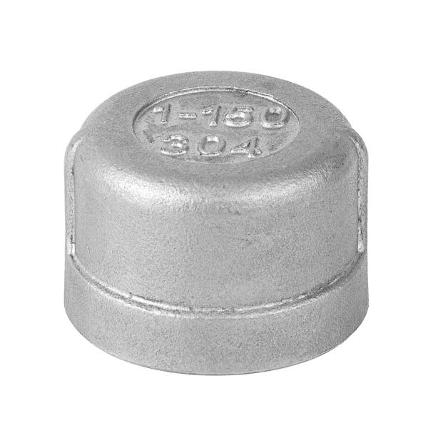 Заглушка круглая нержавеющая вн. резьба  AISI 304 16 бар