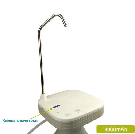 Электрическая помпа для воды под бутылки 19л JAV-T3 (белая)_2