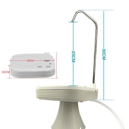 Электрическая помпа для воды под бутылки 19л JAV-T3 (белая)_5