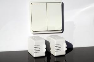 Беспроводной кинетический двойной выключатель света ArmaControl AS-6D (клавиша и блок управления)_4