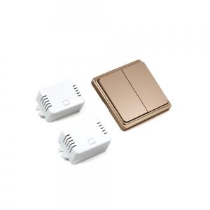 Беспроводной кинетический двойной выключатель света ArmaControl AS-6D (клавиша и блок управления)_1