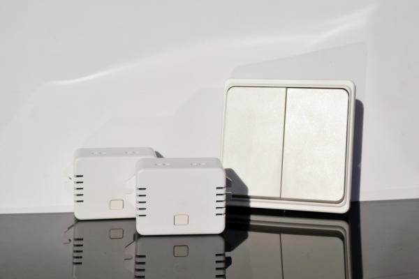 Беспроводной кинетический двойной выключатель света ArmaControl AS-6D (клавиша и блок управления)