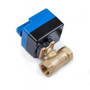Кран шаровый с электроприводом и позиционированием, с ручным дублером ArmaControl MS-242 (AC24V) 0-10в_1