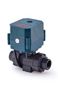 Двухходовой шаровый пластиковый ПВХ (PVC-U) нормально закрытый кран с электроприводом ON/OFF(сервоприводом) CTR-04 (AC/DC9-24V, АС220V),с функцией самовозврата, 2-х проводной_4
