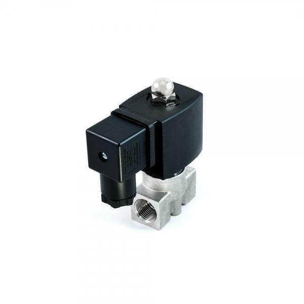 Клапан электромагнитный нержавеющий нормально-закрытый SLP-02 (AC220V, DC24V)