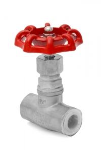 Вентиль нержавеющий AISI 316 (клапан запорный) PN16 , муфтовый_0