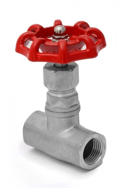 Вентиль нержавеющий AISI 316 (клапан запорный) PN16 , муфтовый