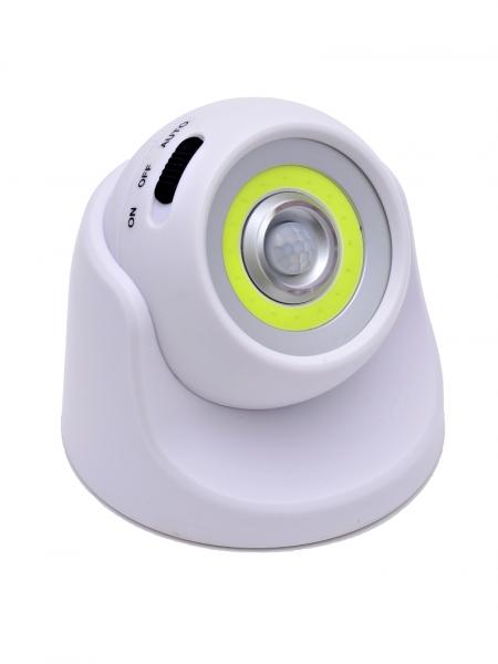 Светодиодный светильник с датчиком движения 360 градусов НайтЛайт-2, ААА батарейки, с USB зарядкой