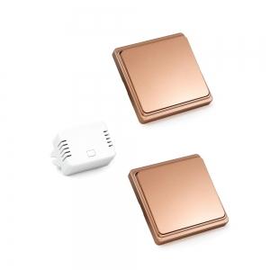 Проходной беспроводной кинетический выключатель света ArmaControl AS-6M (2 клавишы и блок управления)_2