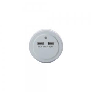 Розетка - USB хаб на 2 выхода TD-05 с датчиком света_1