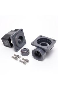 Клапан электромагнитный пластиковый нормально-закрытый из ХПВХ (PVC-U), фланцевый (AC220V, DC24V)_3