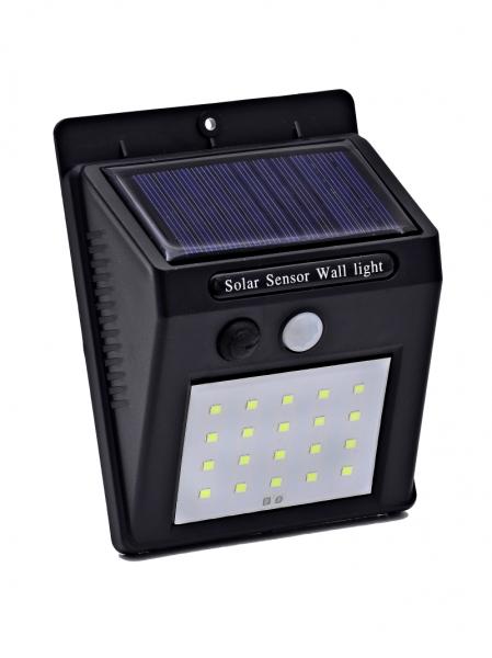 Светодиодный настенный светильник с датчиком движения на солнечной батарее НайтЛайт-3, 30 светодиодов