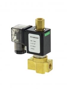 Клапан трехходовой электромагнитный латунный нормально-закрытый SLP-03 (AC220V, DC24V)_1