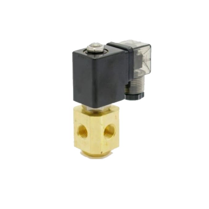 Клапан трехходовой электромагнитный латунный нормально-закрытый SLP-03 (AC220V, DC24V)