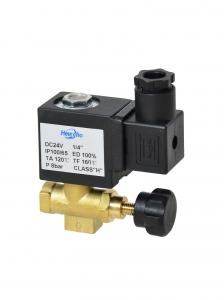Клапан электромагнитный латунный нормально-закрытый SLP-04 с поршнем для управления потоком (AC220V, DC24V)_1