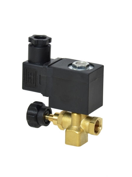 Клапан электромагнитный латунный нормально-закрытый SLP-04 с поршнем для управления потоком (AC220V, DC24V)