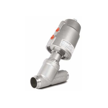 Отсечной угловой клапан с пневмоприводом PNV  одностороннего действия под приварку AISI316