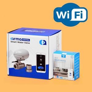 Беспроводная Wi-Fi система защиты от протечки воды ArmaControl -5 (с одним WiFi шаровым краном)_0