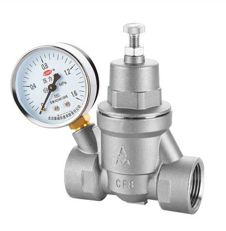 Редуктор давления RDM из нержавеющей стали  0,5 - 16 бар, AISI 304 с манометром