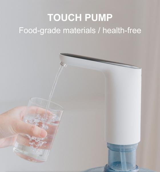 Электрическая помпа для воды под бутылки 19л JAV-J2, с подставкой в комплекте, белая