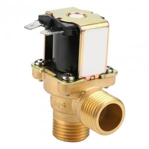 Клапан электромагнитный латунный нормально-закрытый ARM VT9474 (AC220V,  DC12V, DC24V), угловой_0