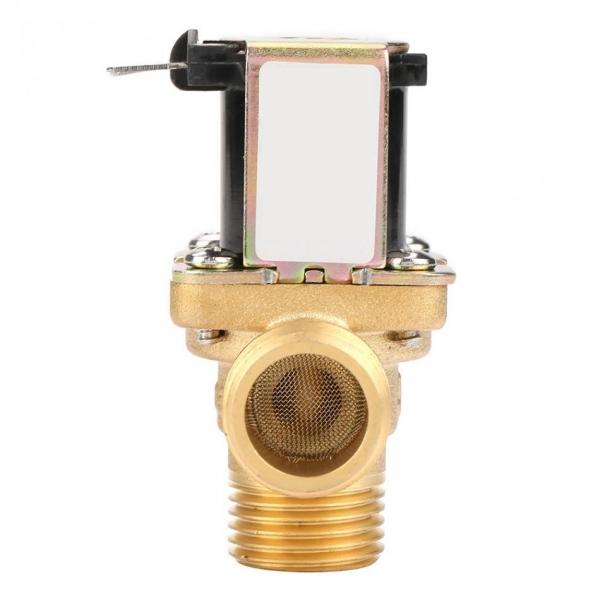 Клапан электромагнитный латунный нормально-закрытый ARM VT9474 (AC220V,  DC12V, DC24V), угловой