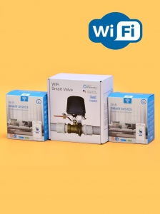 Беспроводная Wi-Fi система защиты от протечки воды ArmaControl -4 (с двумя универсальным WIFi приводами и 3 WiFi датчика протечки)_0