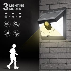 Светодиодный уличный светильник с датчиком движения на солнечной батарее НайтЛайт-3, 100 светодиодов_3