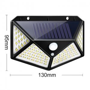 Светодиодный уличный светильник с датчиком движения на солнечной батарее НайтЛайт-3, 100 светодиодов_1