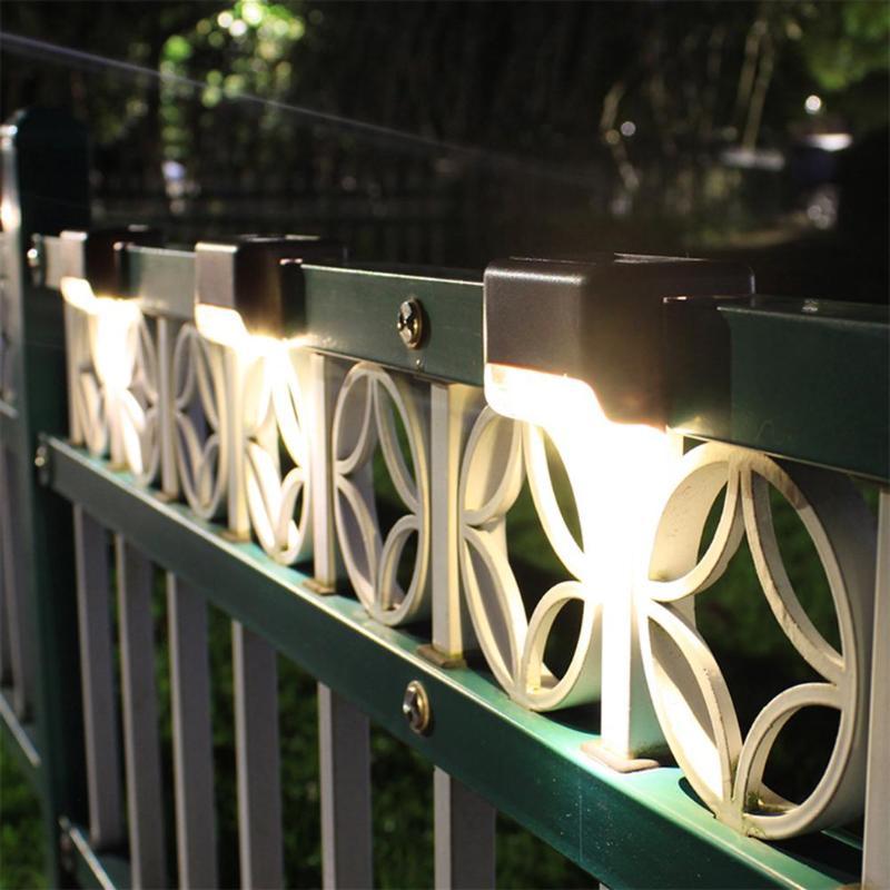 Светодиодный светильник для ступени с датчиком света на солнечной батарее НайтЛайт-8, комплект из 4 шт._4