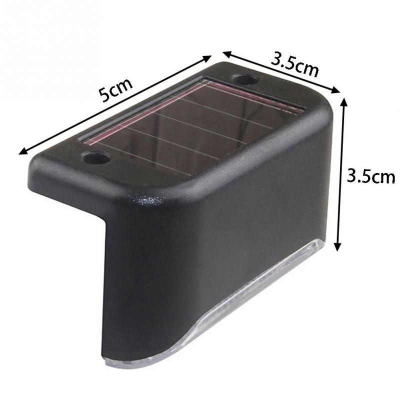 Светодиодный светильник для ступени с датчиком света на солнечной батарее НайтЛайт-8, комплект из 4 шт._2