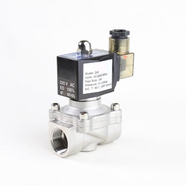 Клапан электромагнитный нержавеющий нормально-закрытый PN10 ArmaControl 2W320 (AC220V, DC12V, DC24V)
