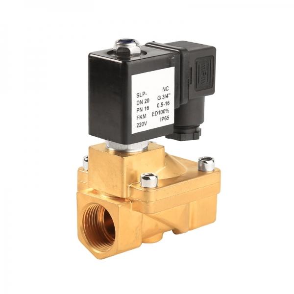 Клапан электромагнитный латунный нормально-закрытый PN 16 ArmaControl SLP130 (AC220V, DC12V, DC24V)