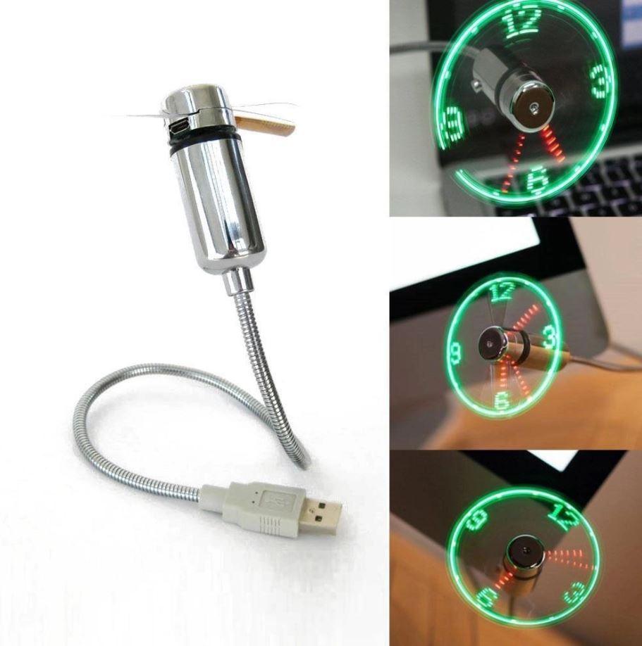 Вентилятор NewClassic V1 от USB с LED подсветкой и часами