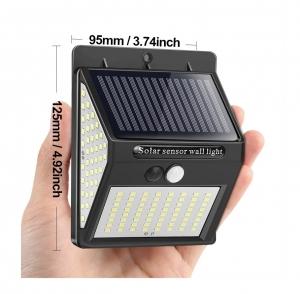 Светодиодный уличный светильник с датчиком движения на солнечной батарее НайтЛайт-3, 140 светодиодов_1