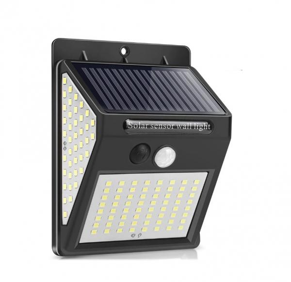 Светодиодный уличный светильник с датчиком движения на солнечной батарее НайтЛайт-3, 140 светодиодов