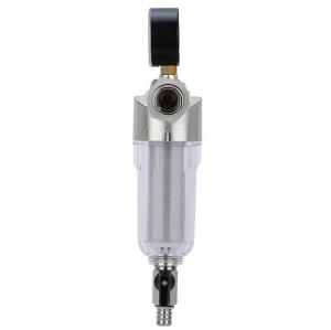 Фильтр тонкой очистки резьбовой с манометром FTG-01, нержавеющая сталь_1