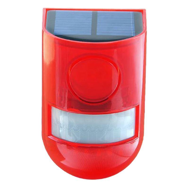 Световая звуковая сигнализация на солнечной батарее, с датчиком движения Warning Light RV-01