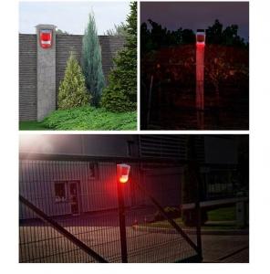 Световая звуковая сигнализация на солнечной батарее, с датчиком движения Warning Light RV-02, с пультом управления_3
