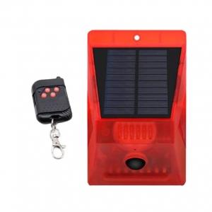 Световая звуковая сигнализация на солнечной батарее, с датчиком движения Warning Light RV-02, с пультом управления_0